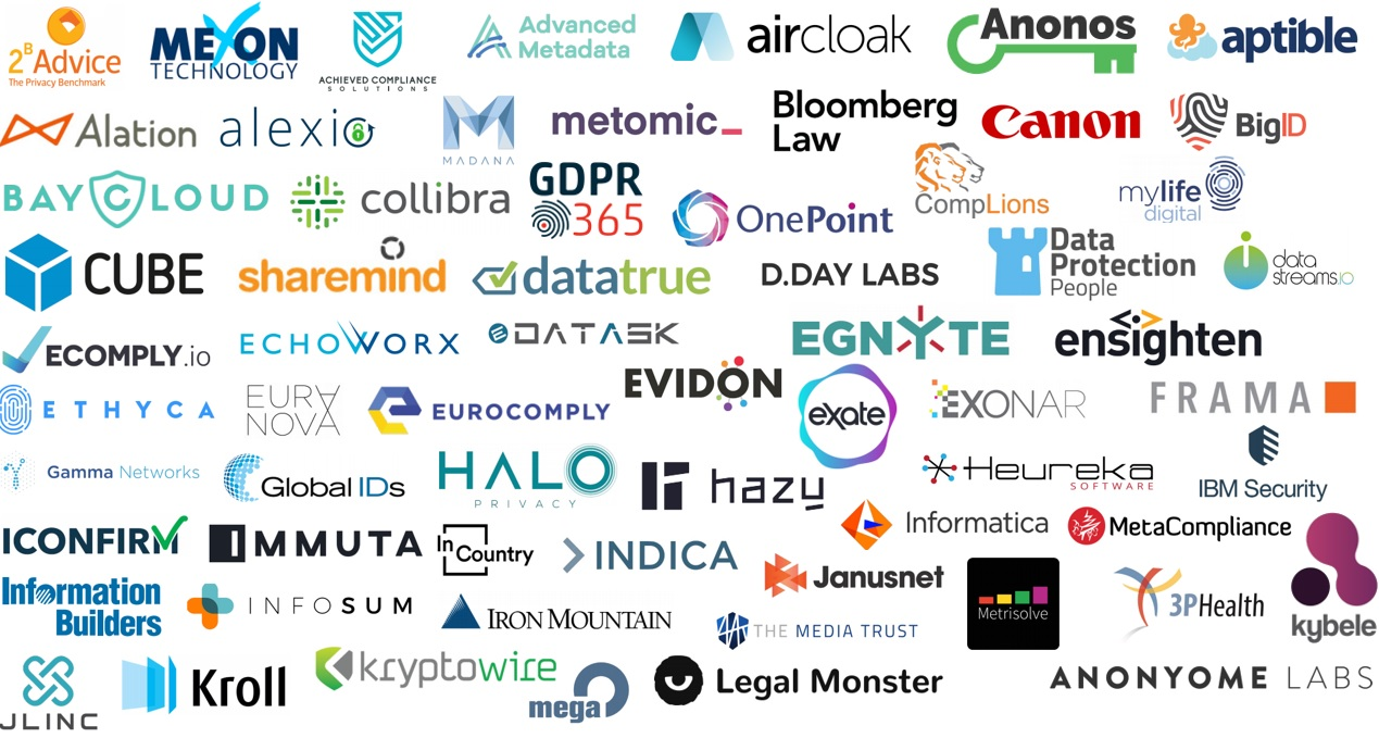 A small selection of privacy tech vendors in a large field